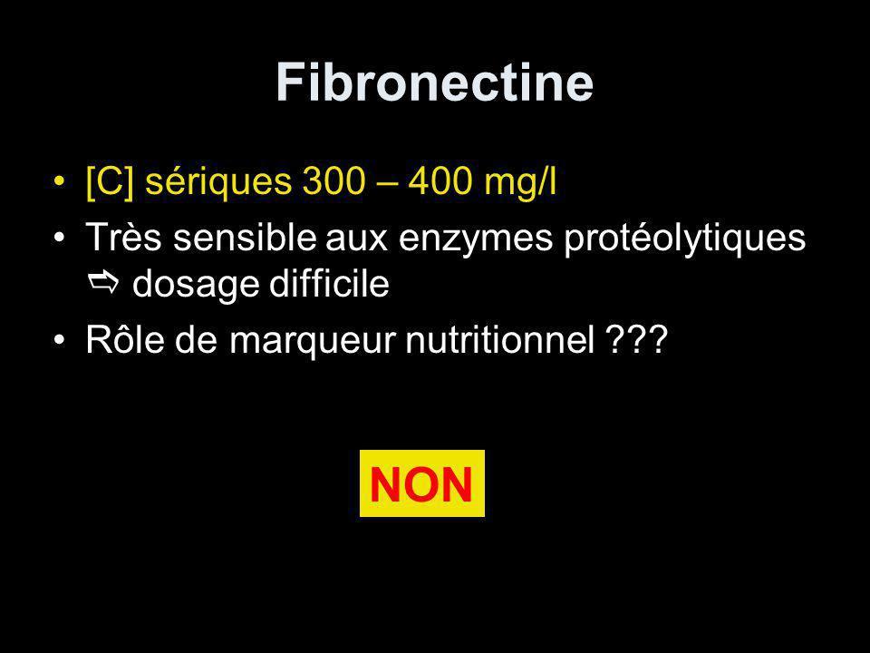 Fibronectine NON [C] sériques 300 – 400 mg/l